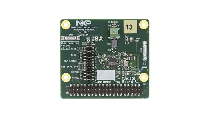 OM14500-TJA1101 : Automotive Ethernet 100BASE-T1 PHY Customer Evaluation Board thumbnail