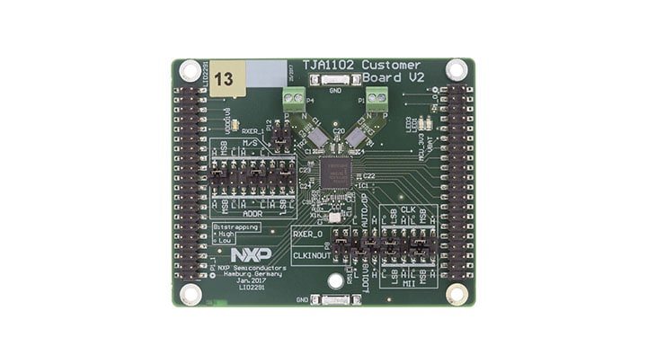 OM14500-TJA1102 : TJA1102HN 100BASE-T1 Automotive Ethernet PHY - Customer Evaluation Board thumbnail
