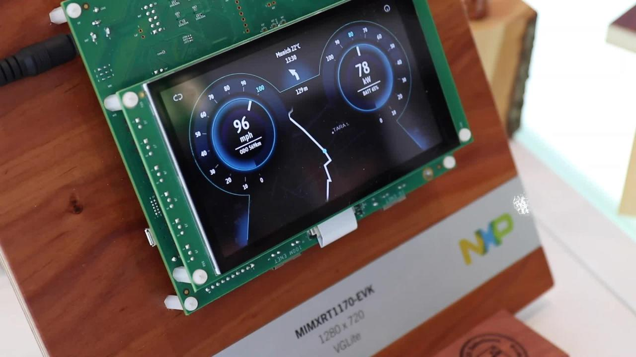 MCU Minutes | i.MX RT1170 e-Car Cluster Demo using Embedded Wizard GUI Technology thumbnail