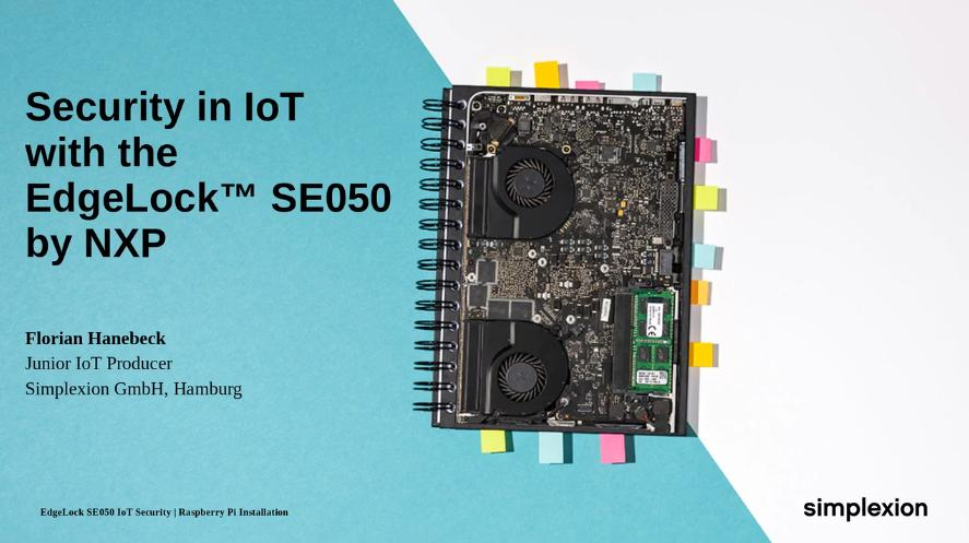 Security in IoT with EdgeLock&#8482; SE050 by NXP<sup>&reg;</sup> thumbnail